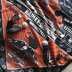Harley Davidson pant straps with key chain.